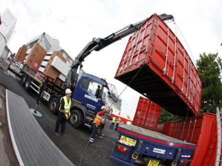 Hiab Container Transport