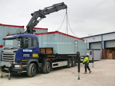Hiab Portable Building Transport